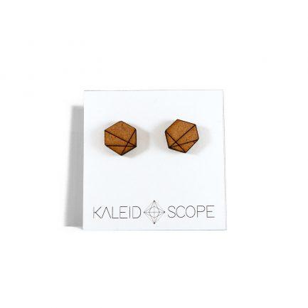 Ohrringe aus Holz Kaleidoscope dressgoat faire hergestellter Schmuck