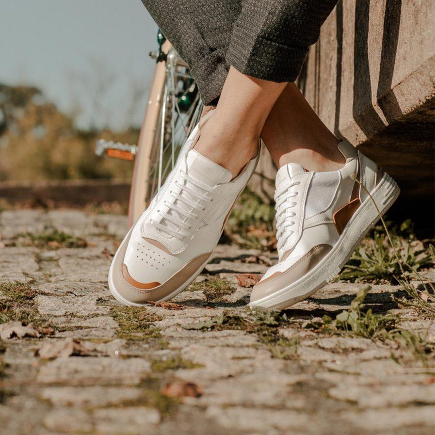 Beflamboyant Sneaker Schuhe weiß Sand vegane Schuhe dressgoat Köln Ehrenfeld