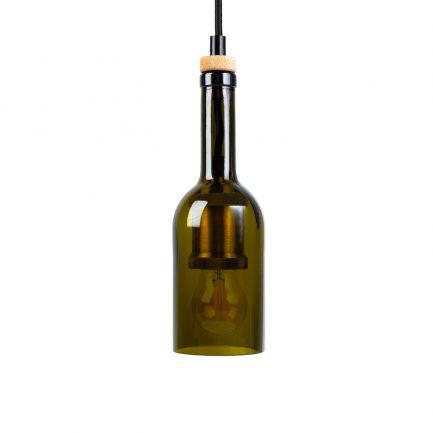 Rebottled recycelte Lampe aus Weinflaschen dressgoat Köln Ehrenfeld